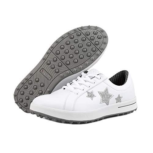 CGBF-Zapatos de Golf Impermeables y Transpirables para Mujer Zapatillas Calzado Deportivo Casual para Correr Al Aire Libre,B,38 EU