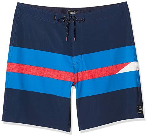 Vans Herren Ninety Three Boardshort Badehose, Mehrfarbig (Dress Blues LKZ), Small (Herstellergröße: 30)