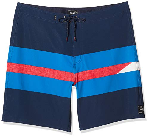 Vans Herren Ninety Three Boardshort Badehose, Mehrfarbig (Dress Blues LKZ), Medium (Herstellergröße: 32)