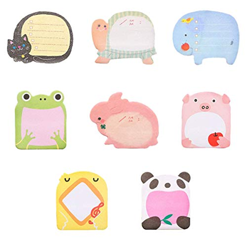 Colorful Animal-Shaped Sticky Notes