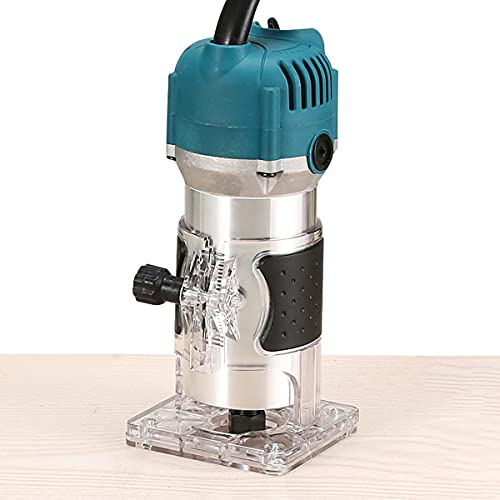 Handheld Router Woodworking 800W,Portable Wood Trimmer Woodworking Trimming,Wood Milling and Wood Slotting Machine 30000R/MIN 110V