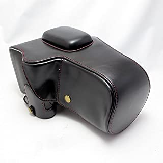 PENTAX K-70 K-S2 対応 セット商品 開閉式 ボディケース+レンズカバー+ショルダーストラップ+ポーチ (18-55mm 18-135mm, 55-200mm 対応) (ブラック)