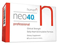 INCREASE NITRIC OXIDE PRODUCTION: Neo40 Professional is a quick dissolve tablet which works quickly to help increase your body's Nitric Oxide. HumanN is the brand owner, manufacture and the only authorized seller of HumanN products on Amazon.com CLIN...
