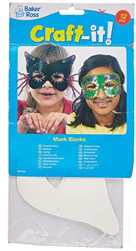 Baker Ross Kit de Caretas para decorar (Paquete de 12) Manualidades para fiestas de disfraces infantiles
