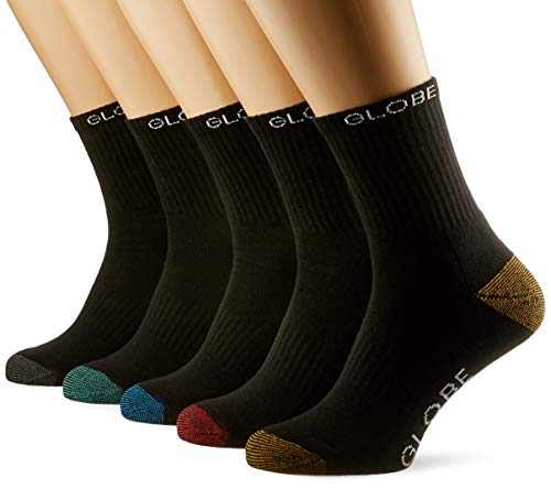 Globe Ingles Crew Sock 5 Pack, Assorted, 7/11