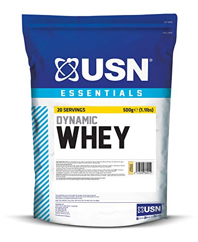 USN Dynamic Essentials Whey Protein Supplement,Vanilla, 500 g
