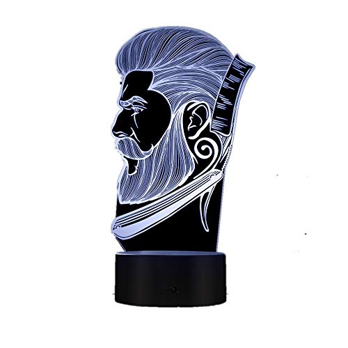 Friseursalon Nachtlicht Schönheitssalon Friseursalon Logo kreative Nachtlicht Illusion Tischlampe Tropfboot