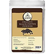 Malabar Black Pepper (Black Tellicherry peppercorn) Ground, 1 pound - 100% Pure & Natural - USDA Organic Certified [ Packaging may vary ]