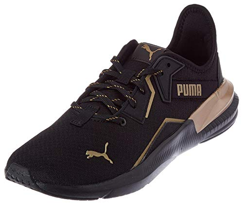 PUMA Damen Platinum Metallic WNS Gymnastikschuh, Black-Gold, 44 EU