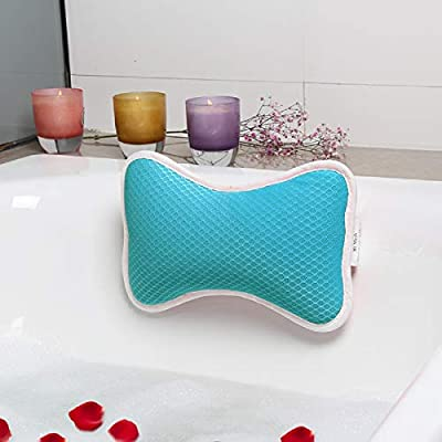 Coastacloud Bath Pillow with Suction Cups, Supports Neck and Shoulders Home Spa Pillows for Bathtub, Hot Tub, Tub Pillows Rest Portable, Relaxing & Comfortable