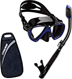 Cressi set ranger & dry kit máscara y tubo, adultos unisex, negro/azul oscuro, talla única