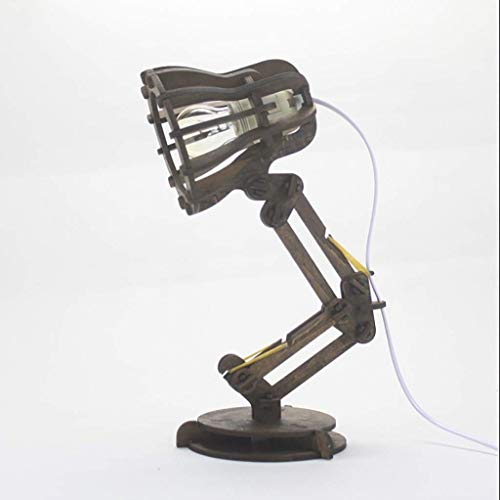 ZHANGYY Lámparas de Escritorio Estudio de Madera Maciza Retro Simple Lámpara de Mesa de protección para los Ojos/Lámpara de Mesa con Soporte para bolígrafos de Dormitorio de Viento indus