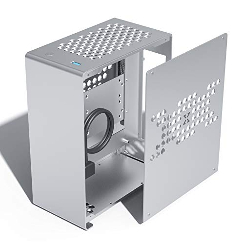 A1 Mini ITX Case Desktop PC Case Micro Slim Portable 2021 Small Backpack Aluminum Alloy Chassis DIY Installation for Gaming and Home Use
