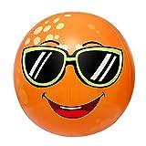 Toyvian Juguete de aspersor inflable para niños, con aspersor de bola de playa, color naranja gigante, juguete de agua de 31,4 pulgadas de diámetro, para niños pequeños