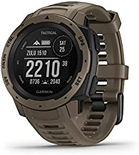 Garmin Instinct Tactical, Rugged GPS Watch, Tactical Specific Features, Constructed to U.S. Military Standard 810G for Thermal, Shock and Water Resistance, Tan