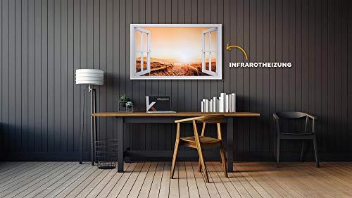 Könighaus Fern Infrarotheizung – Bildheizung in HD Qualität mit TÜV/GS – 200 Bilder – mit Könighaus Smart Thermostat und APP für IOS/Android – 1000 Watt (227 Fenster offen) kaufen  Bild 1*