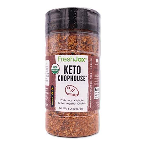 FreshJax Premium Gourmet Spices and Seasonings (Keto Chophouse: Organic Steak Seasoning)