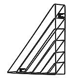 Winni43Jullain Porta Riviste Moderno - Portariviste da Parete in Ferro - 23 * 23 * 5cm - Organizzatore Documenti Ufficio sul Tavolo e sul Muro (Nero)