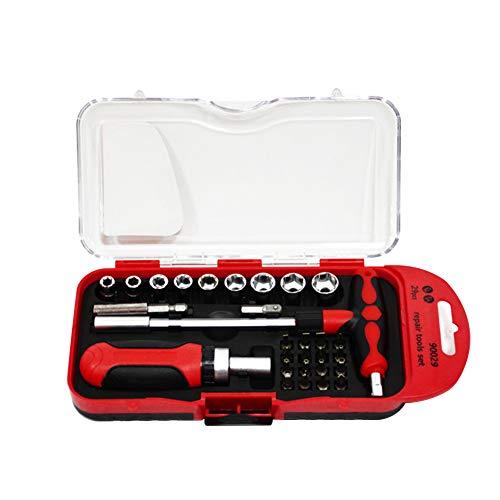 KANUBI Schraubenschlüsselsatz, Ratschenschlüsselsatz, Multifunktionswerkzeugsatz für Autoreparatur, Reparatur-, Demontage- und Wartungshardware-Werkzeuge 29 Sätze