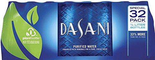 Dasani Eau en bouteille purifiée (paquet de 32/16,9 Oz Net Wt 540,8 Fl Oz), 504,8 Fluid_ounces