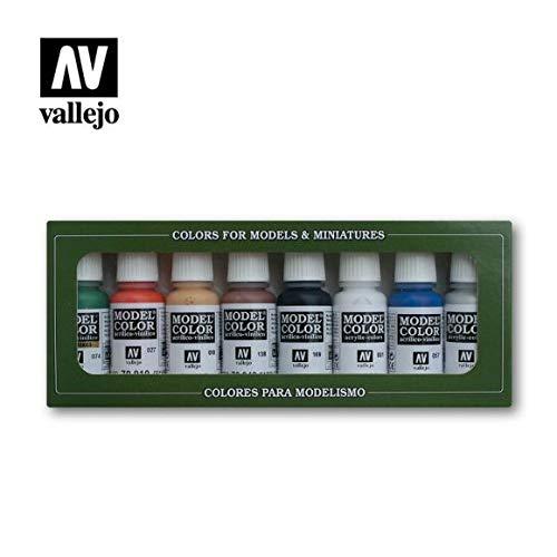 Vallejo Wargames Basics - Set de pintura acrílica (8 unidades, 17 ml) multicolor