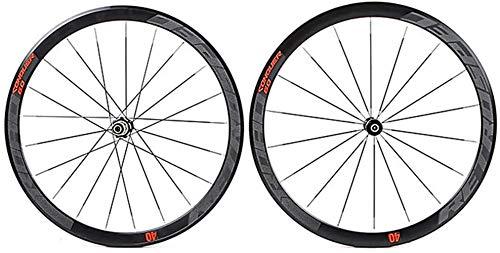 Ruedas De Bicicleta,llantas bicicleta 700C bicicletas de ruedas ultraligero de pared doble de aleación de aluminio de bicicletas llantas de 40 mm de alta trasera de la rueda delantera de la rueda 4 Pa