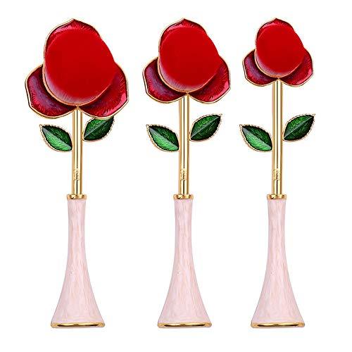 TOOGOO Nouveau Rose Rouge Pinceau Beauté Maquillage Pinceau Maquillage Fondation Pinceau Femme Cadeau