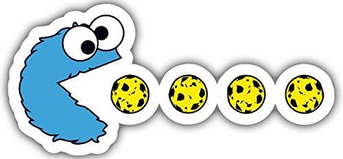 Aufkleber wählbar Adhesivo Sticker für Auto und Motorrad,, Monster des Keks-PAC-MAN. ,, 10 cm