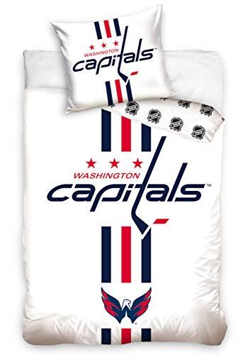 NHL Washington Capitals 181002 National Hockey League Fan Bettwäsche 140x200 cm + 70x90 cm