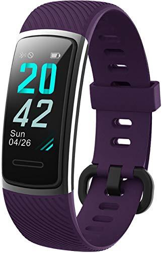 KUNGIX Neuestes Modell Fitness Tracker, Schrittzähler Uhr IP68 Wasserdicht Smartwatch mit Pulsmesser Smart Watch für Damen Herren Kinder iOS Android Kompatibel