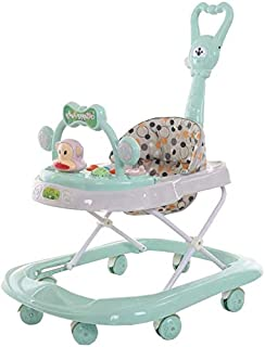 COOLBABY Baby walker multifunctional anti-rollover anti-O leg can sit folding 9-18 months male and female baby walker