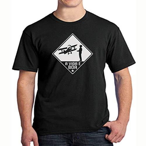 Camiseta Aeromodelismo (P, PRETO)