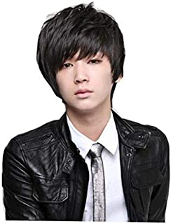 Korean lover style fashion cool men fluffy short curly wig for handsome boy
