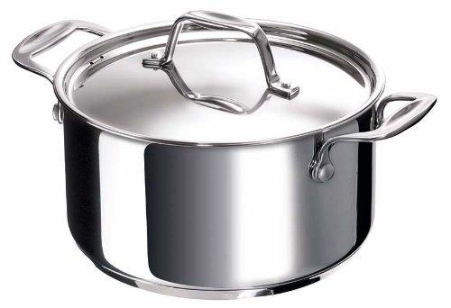 Bekaline 12061244 Chef Faitout + Couvercle en acier inoxydable 24 cm