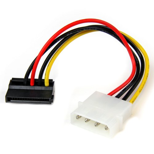 StarTech.com 15cm 4-Pin Molex auf SATA Kabel links gewinkelt, Stecker/Buchse