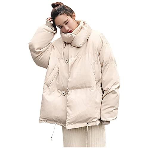 riou Abrigos Caliente para Mujer Otoño Invierno Chaqueta Suelto Jersey Manga Larga Outwear Color Sólido Remata Cálido Deportivos Pullover Tops