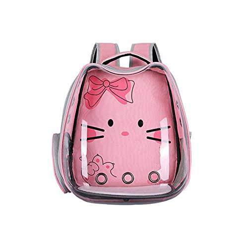 XKUN Space Capsule Pet Bolsa De Mascota Que Sale Cómodamente Transpirable Lindo Gato Y Perro Mochila Multi-Color Opcional Pequeño Perro Mochila(Color:Rosa)
