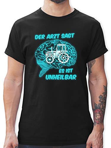 Landwirt - Der Arzt SAGT es is unheilbar Traktor - XL - Schwarz - Traktor der Arzt SAGT es ist unheilbar - L190 - Tshirt Herren und Männer T-Shirts