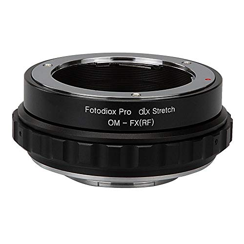 Fotodiox DLX Stretch lens Mount Adapter - Olympus Zuiko (OM) 35mm SLR lens Compatibel met Fuji X-Series Mirrorless Camera Body with Macro Focusing Helicoid and Magnetic Drop-In filters