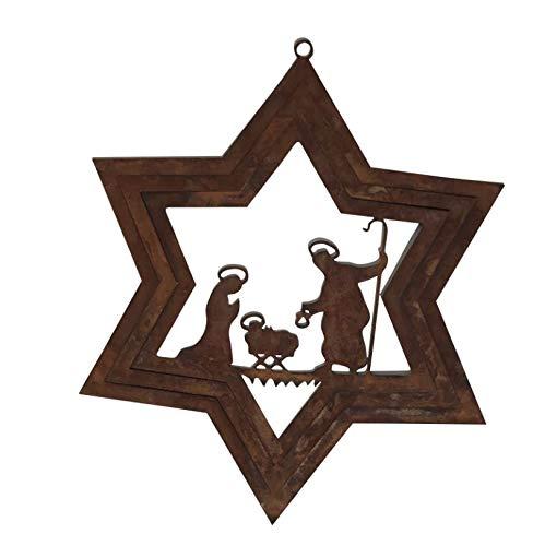 Rostalgie Edelrost Windspiel Stern Betlehem D25 cm Advent Weihnachten Gartendeko