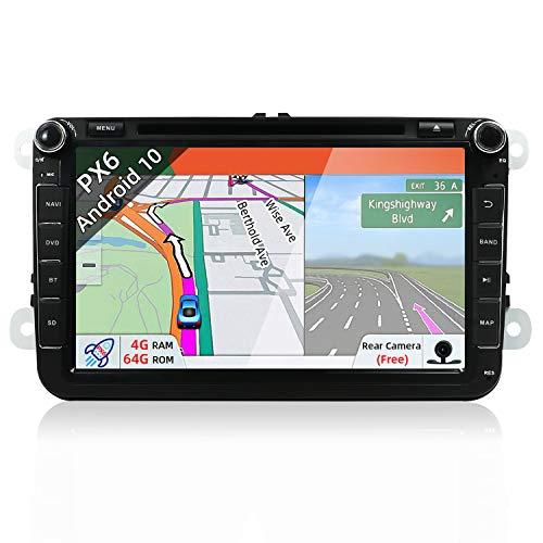 JOYX Android 10.0 Autoradio Passt für VW Passat/Golf/Skoda/Seat - GPS 2 Din - Rückfahrkamera Canbus KOSTENLOS - 4G+64G - 8 Zoll - Unterstützen DAB+ Lenkradsteuerung 4G WiFi Bluetooth Mirrorlink USB