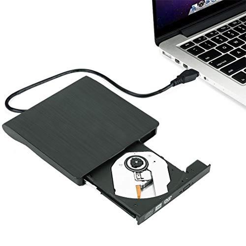 ポータブルドライブ 外付け DVD ドライブ USB 3.0 CD/DVD読取・書込 DVD±RW CD-RW USB3.0/2.0 Window/Mac OS両対応 高速 静音 超スリム (Black, free)