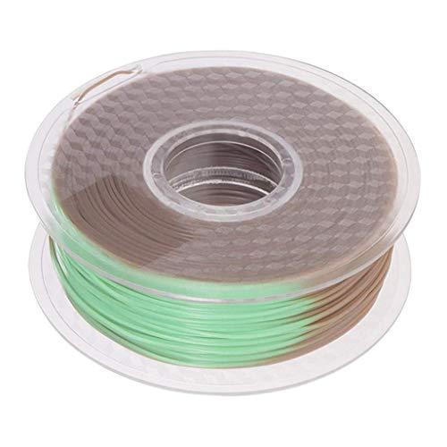 CLJ-LJ La Temperatura de Color Cambio de café a Verde PLA Filamento 1 kg / 2,2 Libras Impresora 3D Carrete de filamento 1,75 mm Precisión +/- 0,02 mm for la impresión 3D