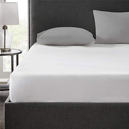 Hyde Lane 400 Thread Count 100% Cotton King Fitted Sheet Only | Hotel Collection Long Staple Cotton Sheets Luxury Sateen Weave | Fits Mattress Up to 14 Inches with Deep Pocket - White, 1pc