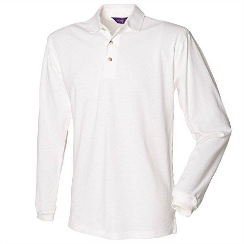 Henbury manches longues en coton Polo - White - L