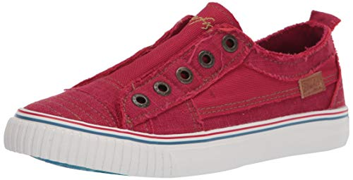 Blowfish Malibu womens Buzz Sneaker, Jester Red Color Washed Coz Linen, 10 US