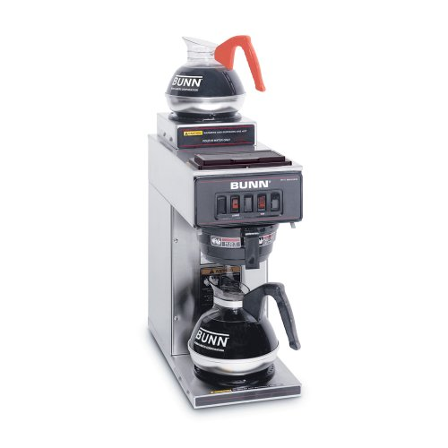 BUNN 13300.0002 VP17-2SS Pourover Commercial Coffee Brewer with 2 Warmers, Stainless Steel (120V/60/1PH)