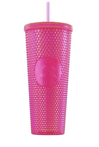 Starbucks 2019 Holiday Studded Tumbler Neon Pink