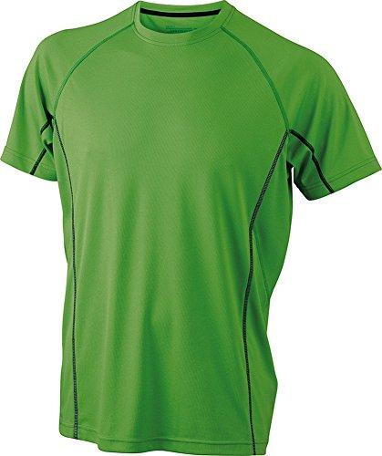 James & Nicholson Men's Running Reflex-T | green/black | 3XL im digatex-package