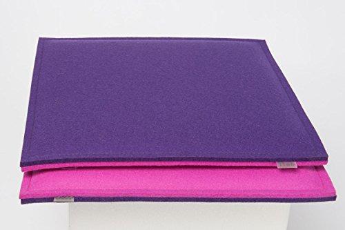 daff Filz Sitzkissen, Polster aus Filz Little Seat pink/Lavendel 33x33 cm